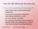 how do we measure success 2