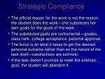 strategic compliance