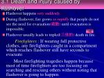 3 1 death and injury caused by flashover
