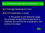 4 1 growth stage pre flashover