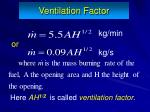 ventilation factor