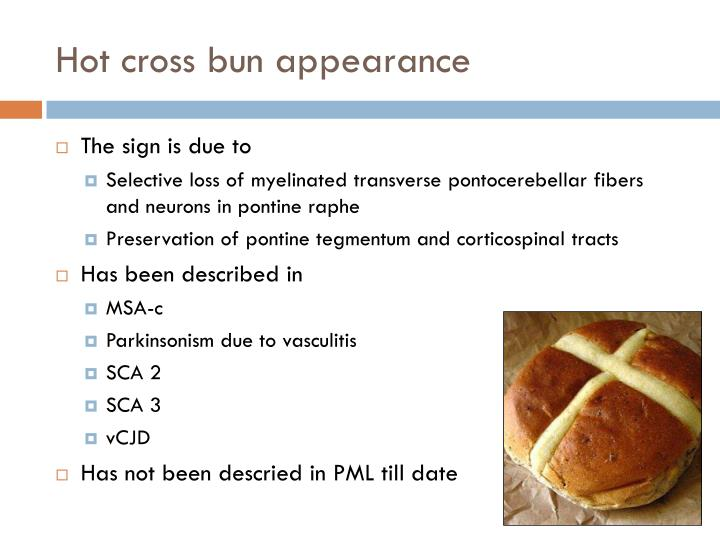 Hot cross bun appearance