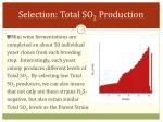 selection total so 2 production