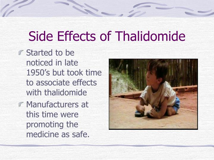 Side Effects of Thalidomide
