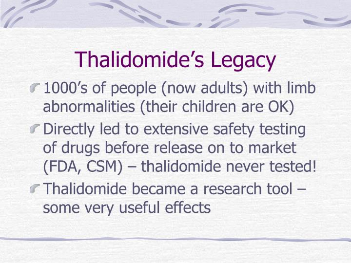 Thalidomide's Legacy