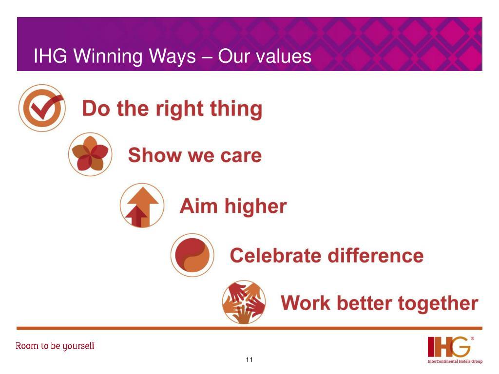 Ihg Values