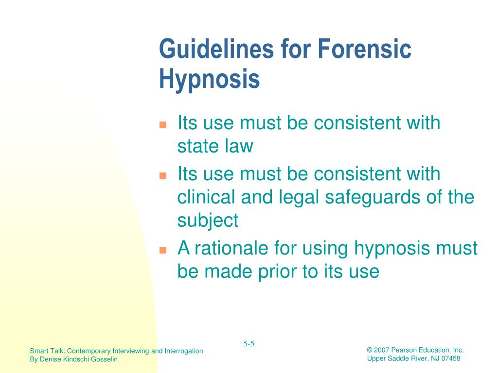 Ppt Forensic Hypnosis And Cognitive Interviewing Powerpoint Presentation Id 3090478