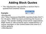 adding block quotes