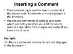 inserting a comment