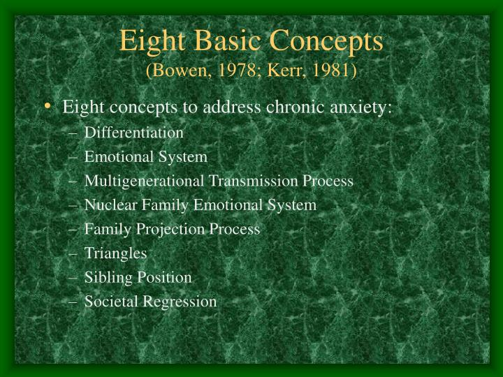 Eight Basic Concepts