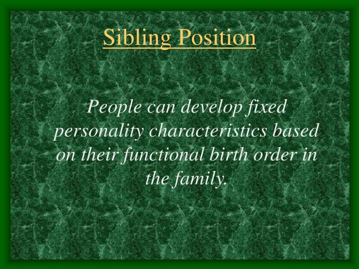 Sibling Position