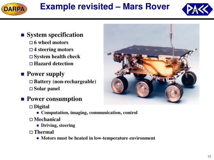 Example revisited – Mars Rover