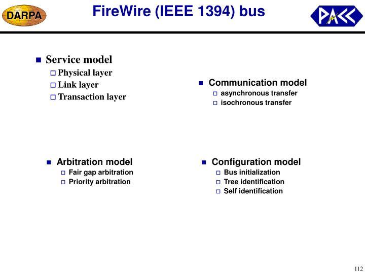 FireWire (IEEE 1394) bus