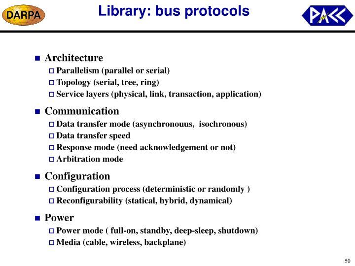 Library: bus protocols