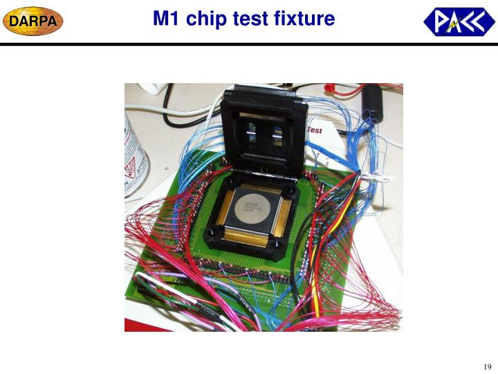 M1 chip test fixture