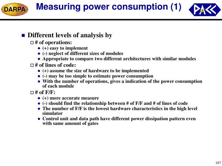 Measuring power consumption (1)