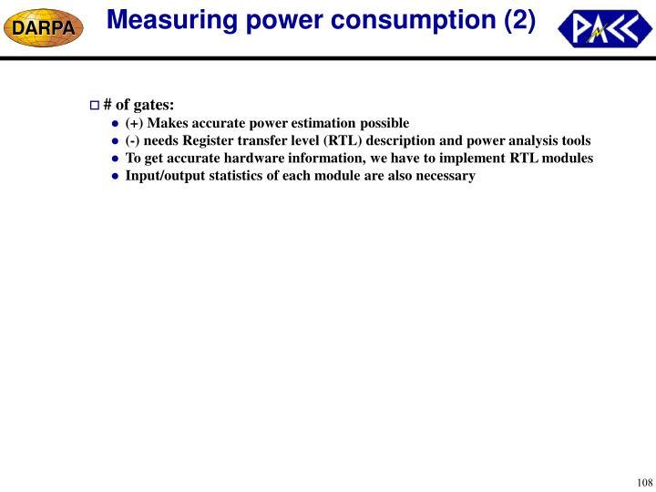 Measuring power consumption (2)