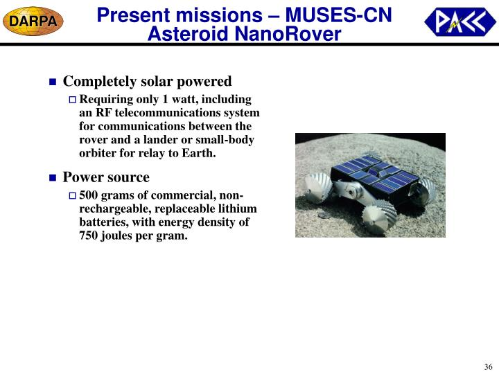 Present missions – MUSES-CN Asteroid NanoRover