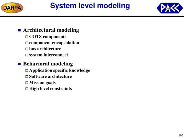 System level modeling