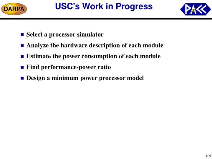 USC's Work in Progress