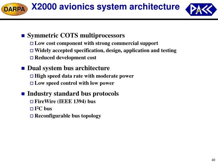 X2000 avionics system architecture