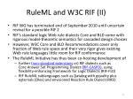 ruleml and w3c rif ii