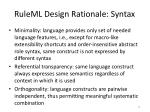 ruleml design rationale syntax