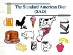 the standard american diet sad