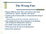 the wrong fats