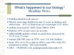 what s happened to our biology headline news