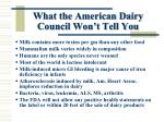 what the american dairy council won t tell you