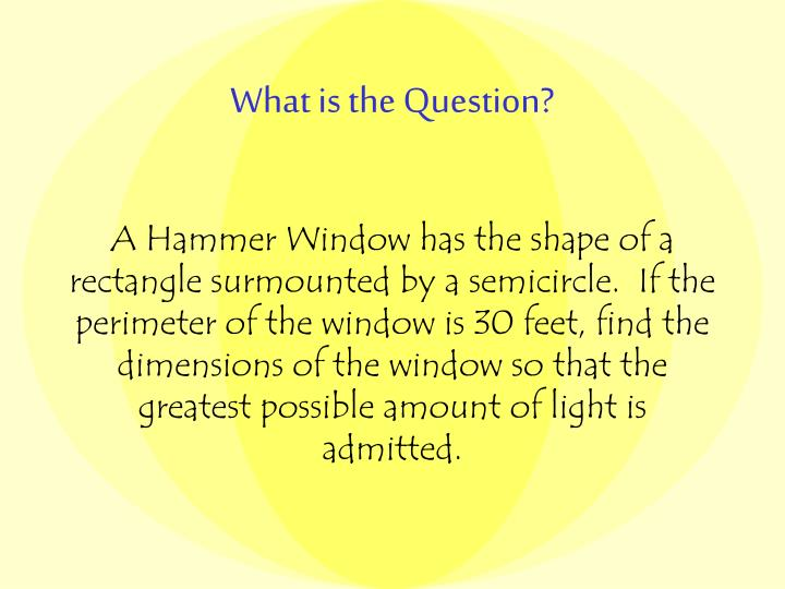 Ppt The Hammer Window Powerpoint Presentation Id3090821