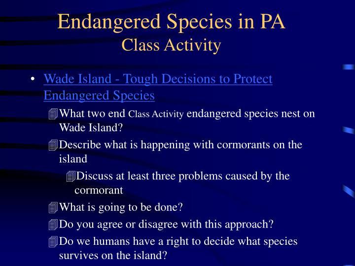 Endangered Species in PA