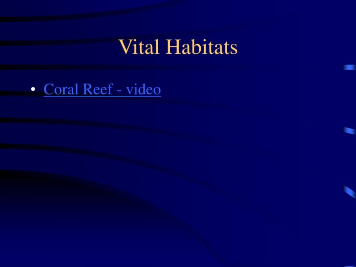 Vital Habitats