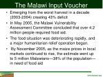 the malawi input voucher