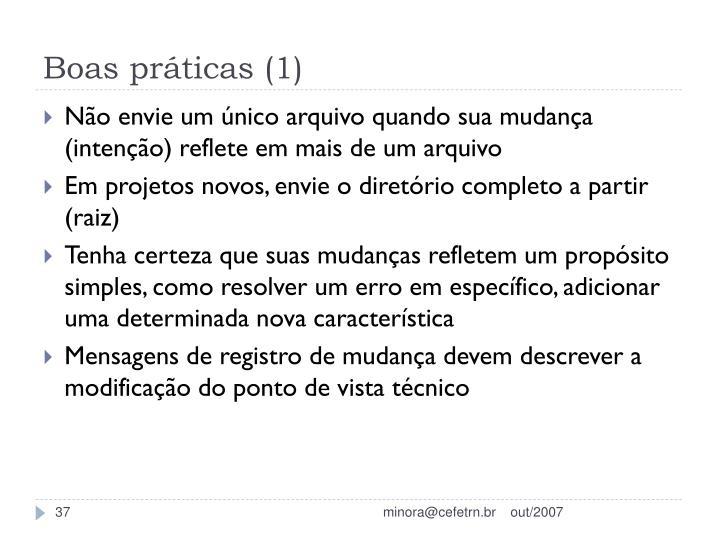 Boas práticas (1)