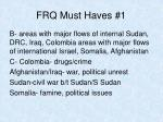 frq must haves 11