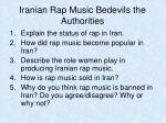 iranian rap music bedevils the authorities