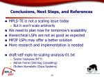 conclusions next steps and references