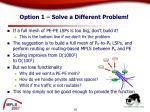 option 1 solve a different problem