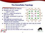 the snowflake topology