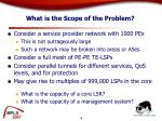 what is the scope of the problem