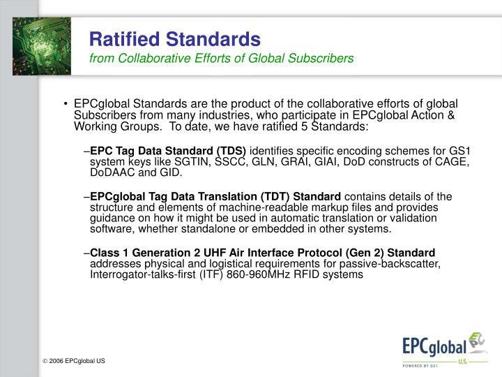 Ratified Standards