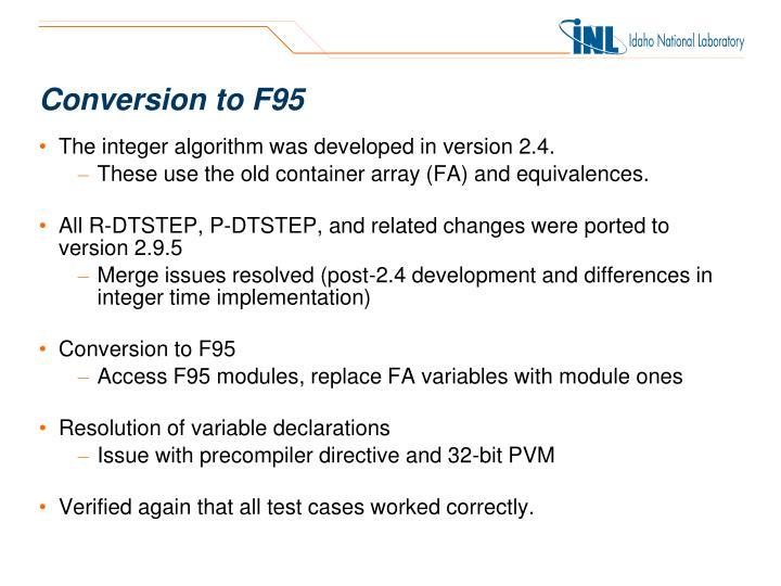 Conversion to F95