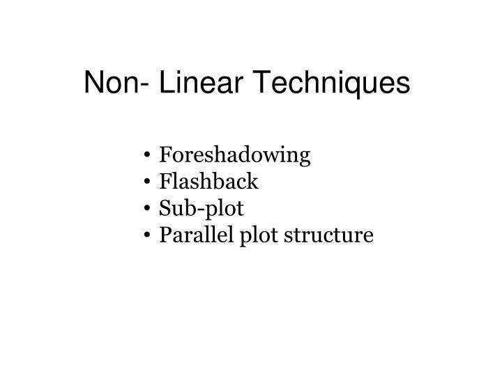 Non linear techniques