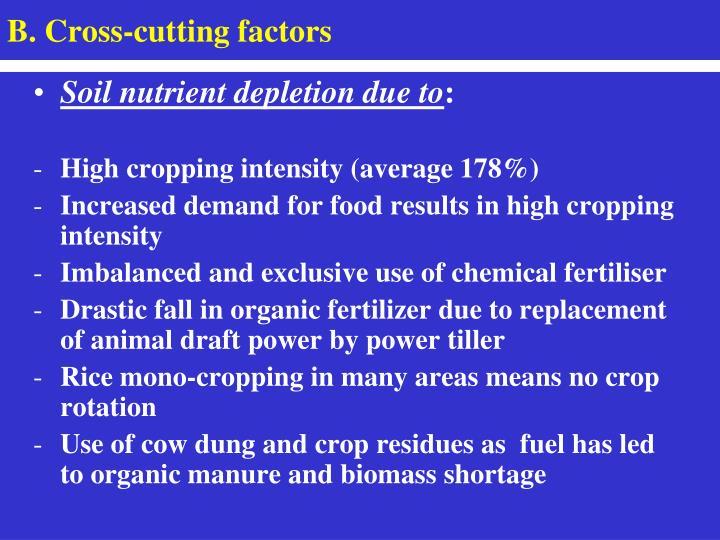B. Cross-cutting factors
