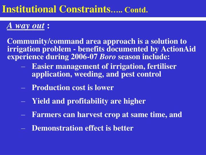 Institutional Constraints
