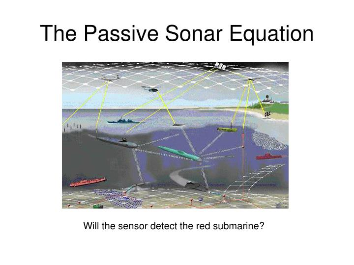 The passive sonar equation