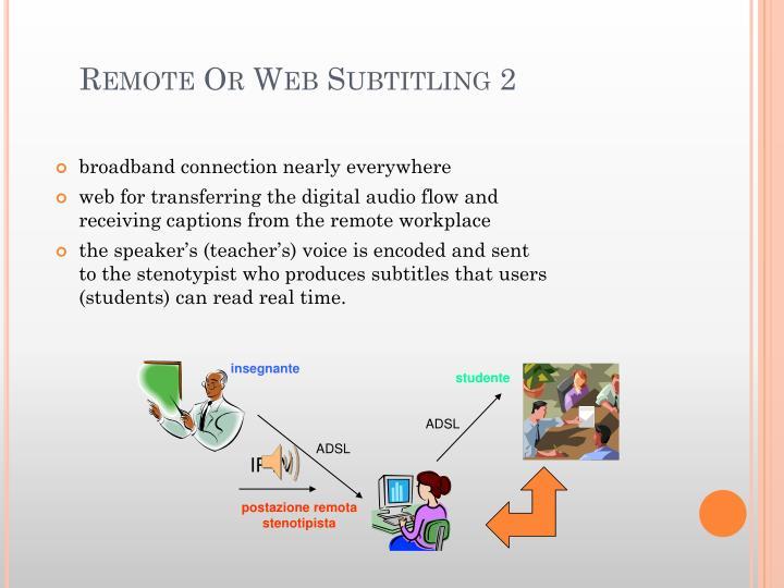 Remote Or Web Subtitling 2