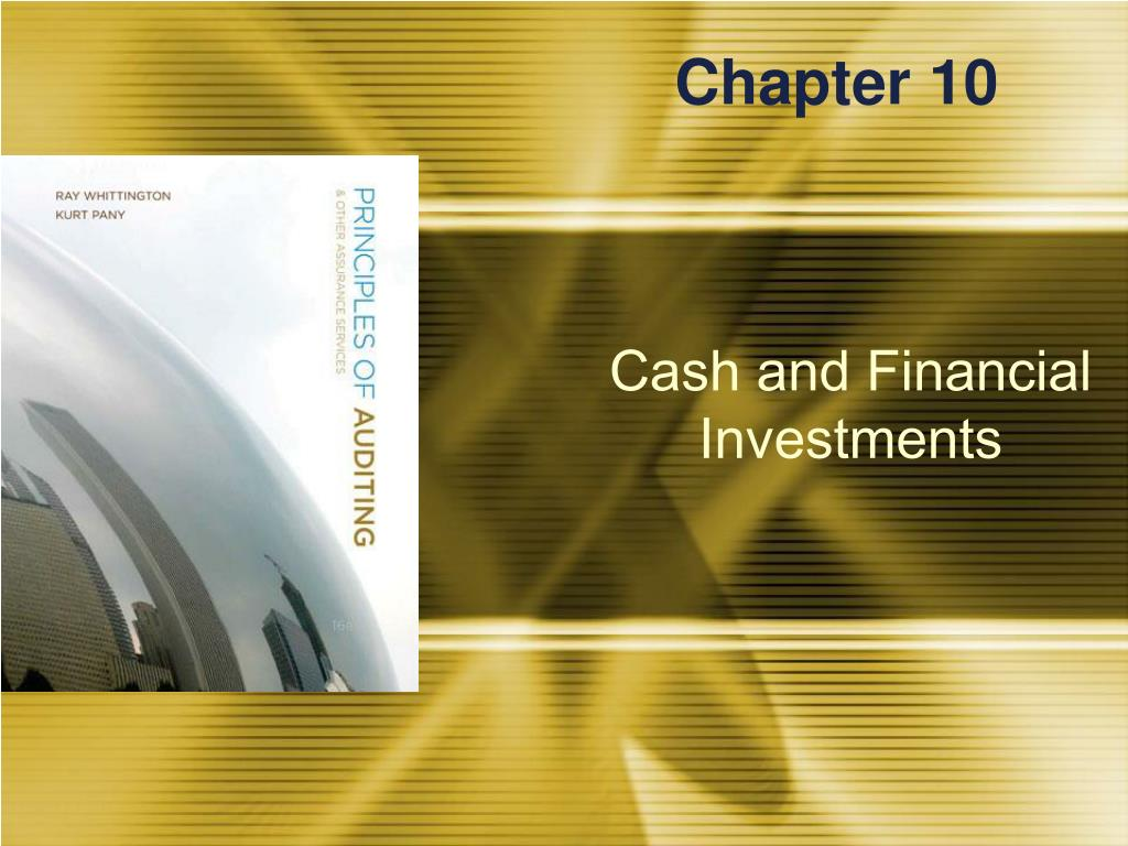 principles of auditing cash and financial investments